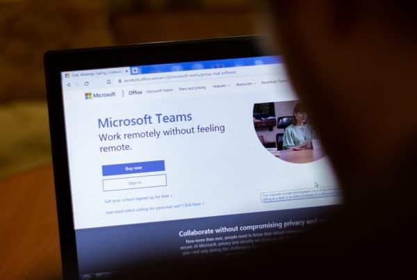 Microsoft Teams on Laptop