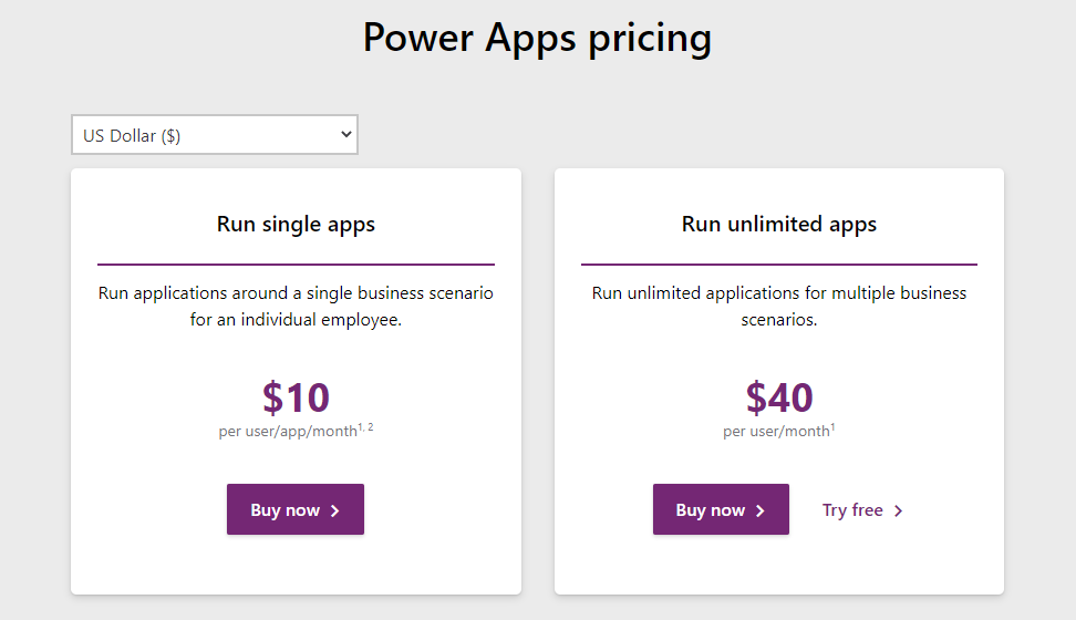 PowerApps-Pricing