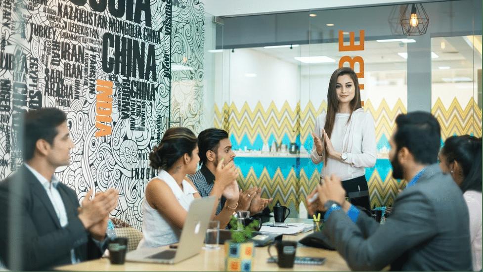 Team meeting in boardroom