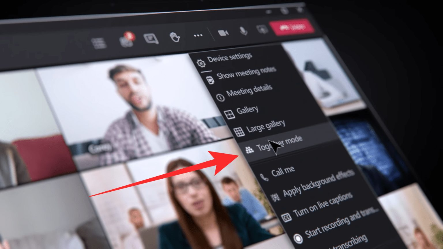 How to Turn on Together mode in Microsoft Teams